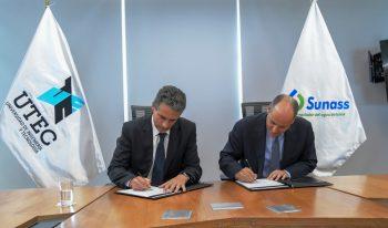 Sunass firmó convenio con la UTEC para mejorar la calidad del agua