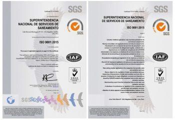 Sunass logra certificación internacional de la calidad por su sistema de gestión unificado