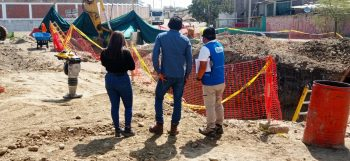 Piura: Sunass monitorea restablecimiento del servicio de agua potable en Sullana tras rotura de tubería